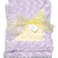 "Amazon.com: Cozy Lavender and Yellow Baby Blanket 35""x 29"": Baby"