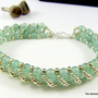 Green Aventurine Bracelet with Handcrafted Silver Clasp