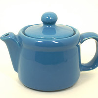 McCoy Teapot Mini Blue Ceramic 2 Cup Stoneware Vintage Tea Pot