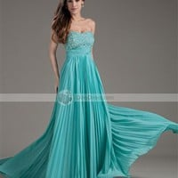 Vienna Chiffon Beaded Sweetheart Backless Floor Length Prom Dresses -  DinoDirect.com