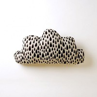 Black Cloud Cushion by Harvest Textiles