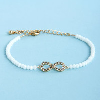 Endless Love White Infinity Bracelet