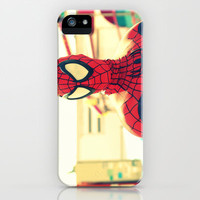 I met Spider Man iPhone Case by Irène Sneddon