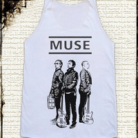 Size S -- MUSE BAND Shirts Muse Shirts Alternative Rock Shirts Women Shirts Vest Women Tank Top Women Tunics Sleeveless Singlet Shirts