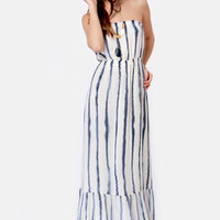 Quiksilver Indigo Splash Striped Maxi Dress