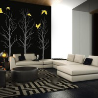 Vinyl Wall Sticker Decal Art  Trees by urbanwalls on Etsy