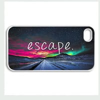 Apple iPhone 4 4G 4S 5 Case Cover White Escape Nebula Hipster Design Vintage Retro