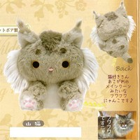 "San-X Kutusita Nyanko 6.7"" Mountain Cat Plush"