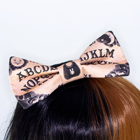 Ouija Board Supernatural Magic Hair Bow Headband
