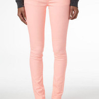 Britt Low-Rise Skinny Color Jean Sunny Pink