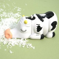 Miniature Cow Tabletop Vacuum