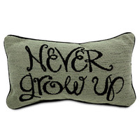 Disney Peter Pan Pillow - &#x27;&#x27;Never Grow Up&#x27;&#x27; | Disney Store