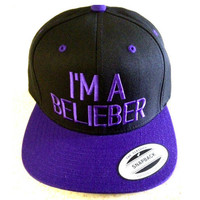 JUSTIN BIEBER HAT i am a belieber swaggy hat by winteriscoming2012