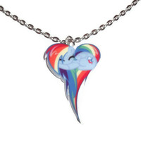Kawaii Rainbow Dash Necklace, My Little Pony Friendship is Magic