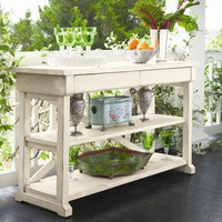 Paula Deen Home Hall Table in Linen | Wayfair
