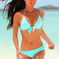 The Daisy Push-Up Triangle Top and side ruched low-rise hipkini bottom Beach Sexy® - Victoria's Secret