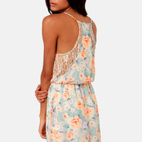 Rose With Everything Floral Print Lace Dress