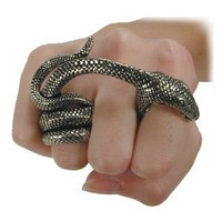 Adder Bite Gothic Snake Ring