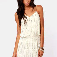Romeo and Jewel-iet Beaded Ivory Dress