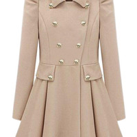 ROMWE | Double-breasted Cream Trench Coat, The Latest Street Fashion