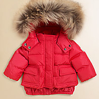 Moncler - Infant's Fur Puffer Jacket - Saks Fifth Avenue Mobile