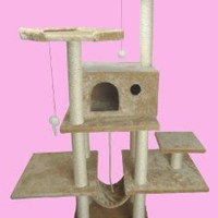 "Amazon.com: 70"" Cat Tree Condo Furniture Scratch Post Pet House 11B: Pet Supplies"