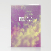 Believe Stationery Cards by Rachel Burbee | Society6