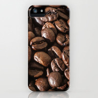 coffee bean macro II iPhone Case by blackpool