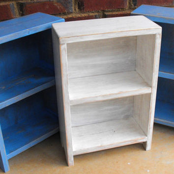 Storage Shelf  Dorm Teacher  Shabby Table Top Storage 18'' x 12'' x 5 3/4''
