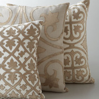Ivory &amp; Taupe Venice Collection Pillows