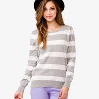 Heathered Stripe Sweater