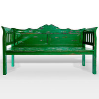 Fab: Nias Vintage Bench Green, at 47% off!