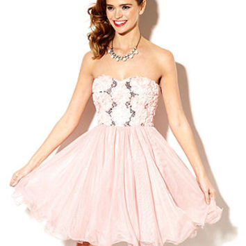 ... Juniors Dress, Strapless Rosette Tulle - Juniors Prom Dresses - Macy's