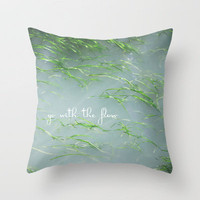 Go with the Flow Throw Pillow by {Just Christine} | Society6