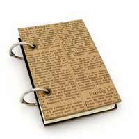 Vintage Inspired Refillable Notebook The by peaseblossomstudio