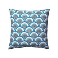 Marine Kyoto Block Print Pillow | Serena &amp; Lily