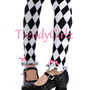 Black and White Harlequin Leg Ruffles Arm by TrendyGirlzCouture