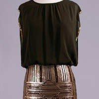 Black Sequined dress-Medium