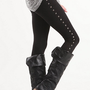 Nollie Black Ponte Stud Leggings at PacSun.com
