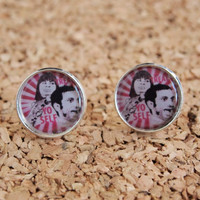 Treat Yo Self studs - parks and recreation tom donna nbc show earrings cool jewelry pink FREE shipping to USA