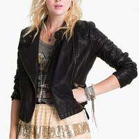 Free People 'Sunburst' Faux Leather Moto Jacket | Nordstrom