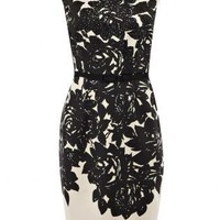 Bqueen Monochrome Print Dress H178