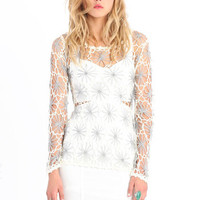 Peace And Happiness Crochet Top - $34.00 : ThreadSence.com, Your Spot For Indie Clothing & Indie Urban Culture