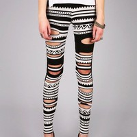 Tribal Escapade Leggings | Printed Leggings at Pink Ice