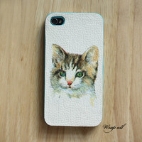 Cat iPhone 4 case / Cat iPhone 4s case/ Kitty iPhone 4s by WrapAll