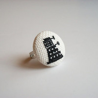 Doctor Who Dalek ring by FunWithNeedles on Etsy