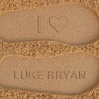 I Love Luke Bryan Custom Sand Imprint Flip Flops