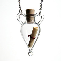 Message in a Bottle Necklace by kivaford on Etsy