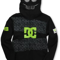 DC Boys Block Black Full Zip Face Mask Hoodie at Zumiez