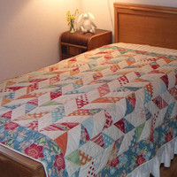 Child Quilt, teen quilt,  twin quilt, large nap quilt, flutter quilt